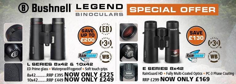 Bushnell Legen L 8x42 and Legend E 8x42 Binoculars