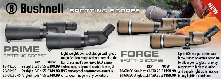 Bushnell Prime and Forge Spotting Scopes
