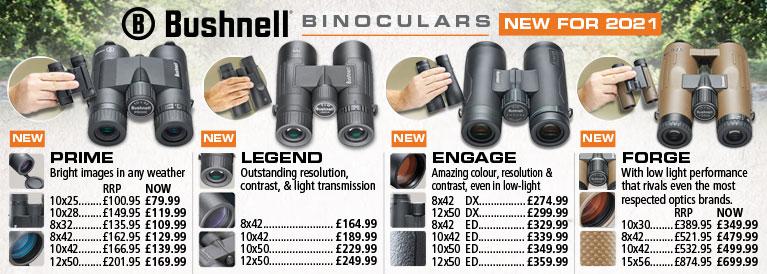 Bushnell Binoculars New For 2021