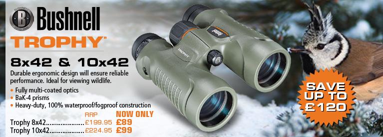 Bushnell Trophy 8x42 and 10x42 Binoculars