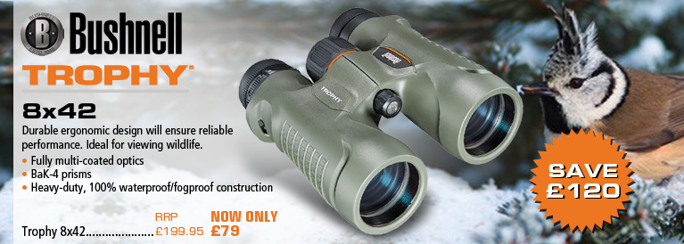Bushnell Trophy 8x42 and 10x42 Binoculars