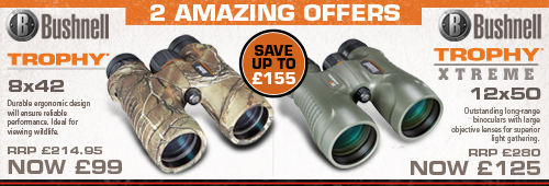 Bushnell Trophy 8x42 and Bushnell Trophy Xtreme Amazing Offers