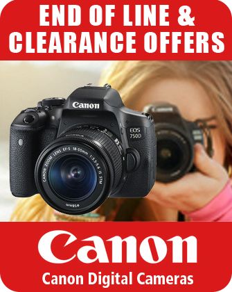 Canon Digital Cameras End of Line Clearance