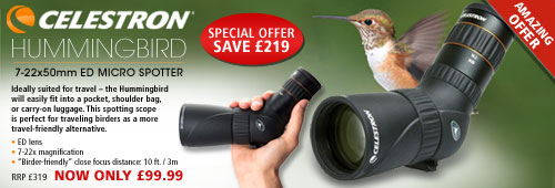 Celestron Hummingbird 7-22x50mm ED Micro Spotter c/w Carry Case - Black
