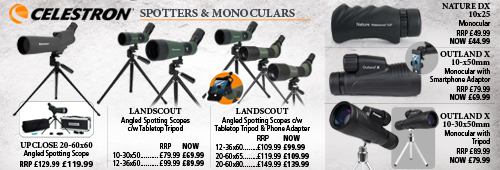 Celestron Spotters and Monoculars