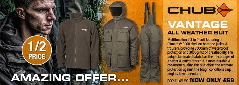Chub Vantage All Weather Suit - Olive