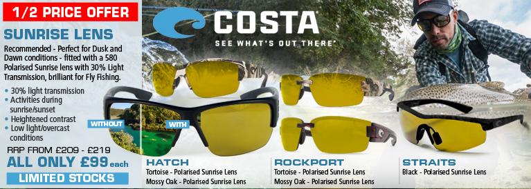 Costa Del Mar Sunrise Lens Sunglasses - Fishing