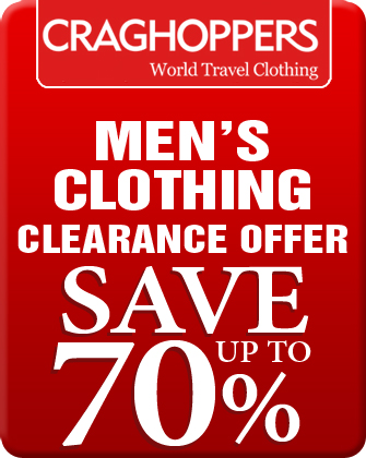 Craghoppers Men's Clothing Clearance Offers
