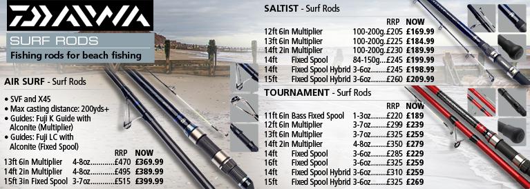 Daiwa Surf Rods