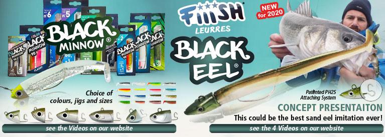 Fiiish Black Eel and Black Minnow Lures