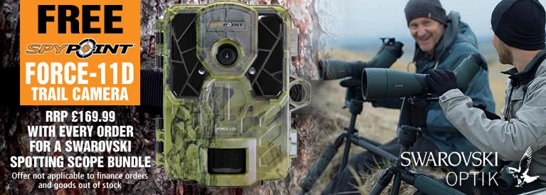 Spypoint Force-11D Trail Camera FREE with every Swarovski Spotting Scope Bundle