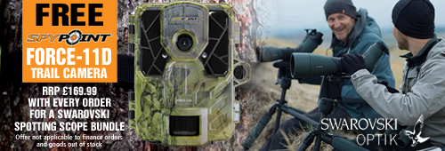 Spypoint Force-11D Trail Camera FREE with every Swarovski Spotting Scope Bundle