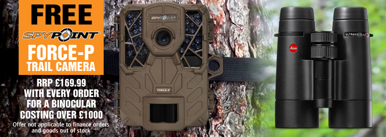 Free Spypoint Trail Camera with Every Bino over 1000