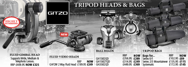 Gitzo Tripod Heads and Bags