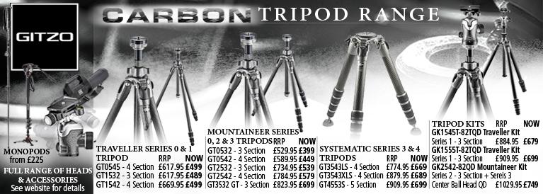 Gitzo Carbon Tripod Range