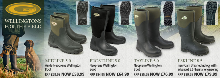 Grubs Midline, Frostline, Tayline and Eskline Wellington Boots