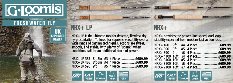 G.loomis Freshwater Fly Rods NRX+ LP and IMX-PRO