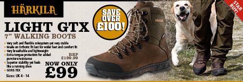 Harkila Light GTX 7 Inch Walking Boots (Men's) - Dark Brown