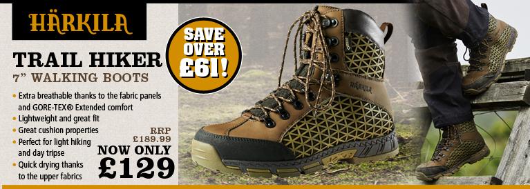 Harkila Trail Hiker GTX 7 Inch Walking Boots (Men's) - Dark Green