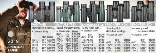 Hawke Binocular range 2019