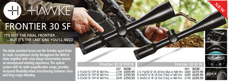 Hawke Frontier 30 SF Riflescopes