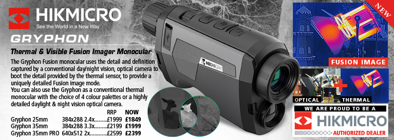 Hik Micro Gryphon LRF Thermal and Visible Fusion Imager Monocular