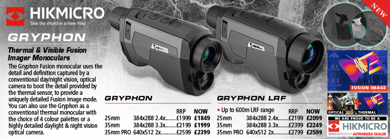 Hik Micro Gryphon LRF Thermal and Visible Fusion Imager Monocular and Gryphon LRF Thermal and Visible Fusion Imager Monocular with Laser Rangefinder