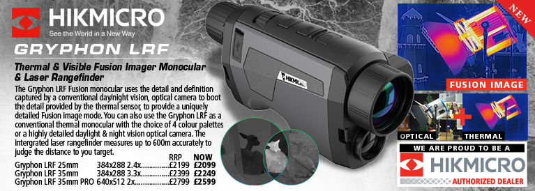 Hik Micro Gryphon LRF Thermal and Visible Fusion Imager Monocular with Laser Rangefinder