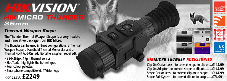 Hik Vision Micro Thunder 35mm Thermal Weapon Scope