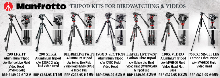 Manfrotto Tripod Kits for Birdwatching and Taking Videos