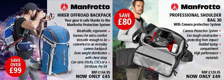 Manfrotto Hiker Offroad Backpack - 20L - Blue and Manfrotto Professional Shoulder Bag 30