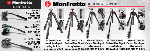 Manfrotto Tripods and Fluid Heads