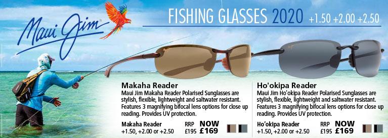 Maui Jim Makaha and Ho'okipa Magnifying Fishing Sunglasses