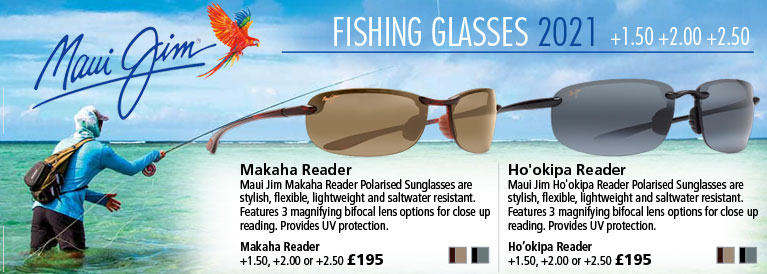Maui Jim Makaha and Ho'okipa Magnifying Fishing Sunglasses