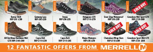 Merrell 12 Fantastic Offers