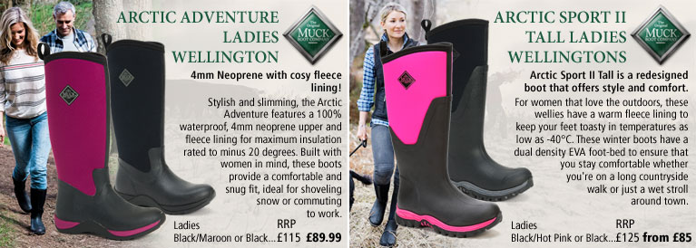 Muckboots Arctic Adventure Ladies and Arctic Sport II Ladies Wellingtons