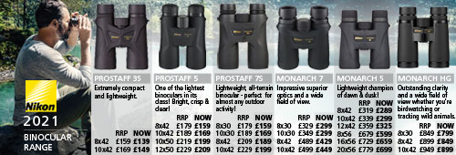 Nikon Prostaff and Monarch Binoculars