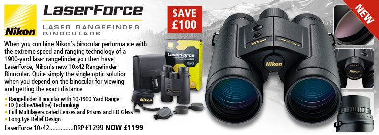 Nikon LaserForce 10x42 Laser Rangefinder