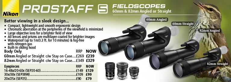 Nikon Prostaff 5 Fieldscopes Body Only and Eyepieces