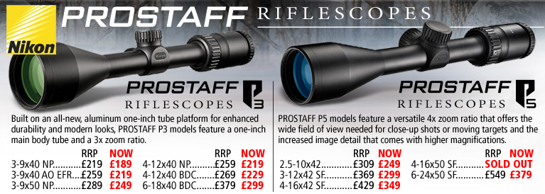 Nikon Prostaff P3 and P5 Riflescopes