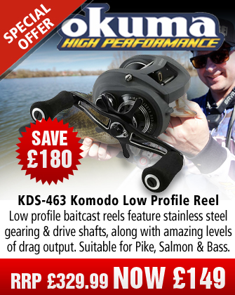 Okuma KDS-463LX Komodo Low Profile Reel