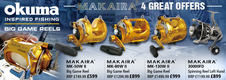 Okuma Makaira Big Game Reels 4 Great Offers