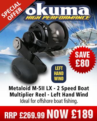 kuma Metaloid M-5II LX - 2 Speed Boat Multiplier Reel - Left Hand Wind