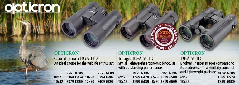 Opticron Countryman BGA HD, Imagic BGA VHD and DBA VHD
