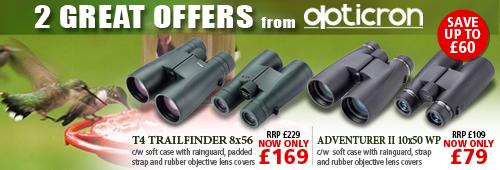 Opticron T4 Trailfinder and Adventurer II