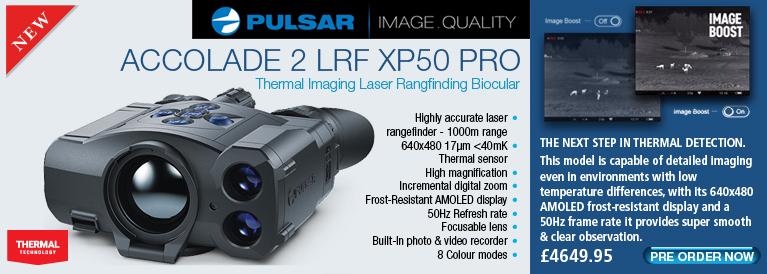 Pulsar Accolade 2 LRF XP50 PRO Thermal Imaging Monocular