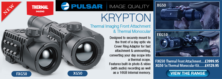 Pulsar Krypton FXG50 Thermal Front Attachment and Krypton XG50 Thermal Monocular