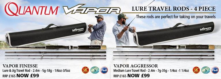 Quantum Vapor Finesse Lure & Jig Travel Rod and Vapor Aggressor Medium Lure Travel Rod