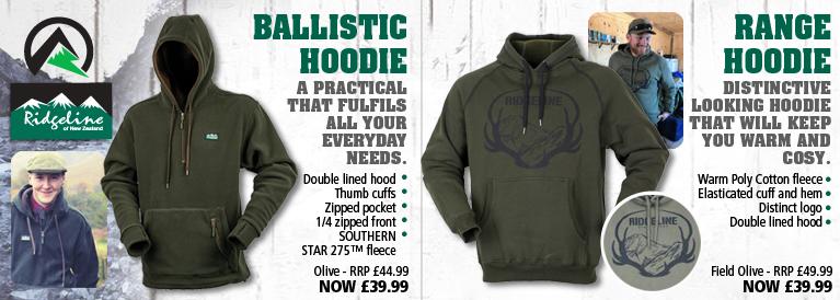 Ridgeline Ballistic Hoodie and Range Hoodie