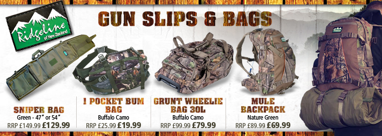 Ridgeline Gun slips and Bags